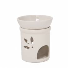 Duftlampe DUO creme Keramik 2teilig, H: 11 cm Ø 9 cm