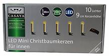 CASAYA LED Mini Christbaumkerzen - 10 Lichter