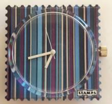 S.T.A.M.P.S. - Uhr 'Blue Stripes' - wasserdicht bis 50 Meter Wassertiefe