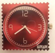 S.T.A.M.P.S. - Uhr 'Shades Of Red' - wasserdicht bis 50 Meter Wassertiefe