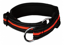 Zug-Stopp-Halsband Schwarz/Orange, M