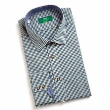 Herrn Hemd, Langarm, Farbe: dunkelgrün, Naturknöpfe,  Baumwolle, bei Lederbekleidung Paschinger kaufen.