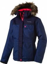 Mädchen Winter- und Skijacke McKinley 'Christina' navy dark/AOP/pink 280449