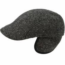 Balke Slim Line Tweed Flatcap Sportmütze mit Ohreklappen 31681722 braun
