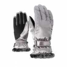 Ziener Damen - Skihandschuh modisch 'KIM' metallic silver 801117