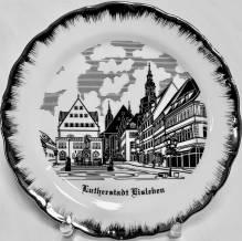 Teller, Motiv Lutherstadt Eisleben