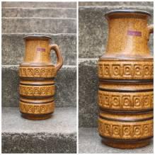 Vase,Blumenvase,Scheurich,Keramik,Original,True Vintage, Retro,West Germany, 60er,70er,mid century, Flohmarktfund, Trödel, Senf,Ocker