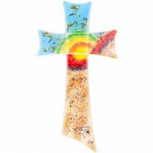 Kreuz Glas 35x19 Color