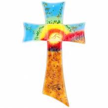 Kreuz Glas 27x17 Color