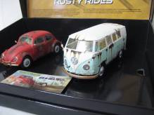 Scalextric Scal3966A Doppelset VW Beetle und VW Bus Camper im Rostdekor Limited Edition