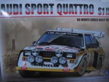 BE24017 Aoshima Standmodellbausatz Audi Quattro S1 HB Team Rallye Monte Carlo 1986