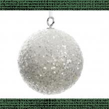 Pailletten-Kugel, 40 cm Ø, silber schillernd