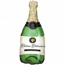 1 Folienballon - Champagnerflasche