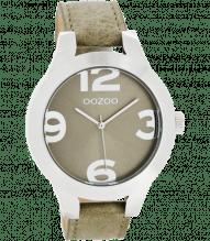 Oozoo Damen Armbanduhr mit großen Ziffern grau C7592