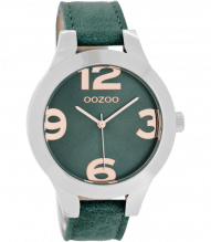 Oozoo Damen Armbanduhr mit großen Ziffern aqua C7593