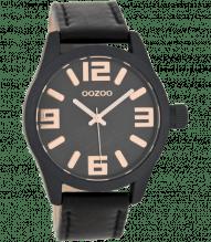 Oozoo Armbanduhr schwarz schwarz C7604