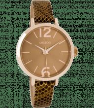 Oozoo Damen Armbanduhr mit schmalen Armband Python C7607