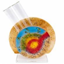 Vase Schräg Glas Color
