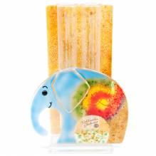 Vase Elefant Glas Color