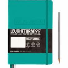 LEUCHTTURM Notizbuch Bullet Journal 355280 Medium DIN A5 smaragd