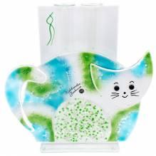 Vase Katze 2 Glas G/B