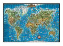 Kinder-Weltkarte in Übergröße gerahmt