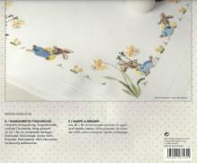 Rico Stickpackung - Mitteldecke 80x80cm - vorgezeichnet - Plattstich - Ostern