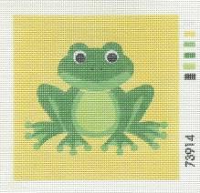 Gobelin - Stramin - vorgedruckt - 15x15cm - Frosch