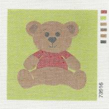 Gobelin - Stramin - vorgedruckt - 15x15cm - Teddy