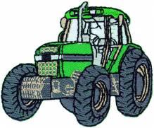 Applikationen - Patches - zum Aufbügeln - Traktor grün