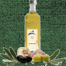 Knoblauchöl Olio extra vergine d'oliva all'aglio natives Olivenöl extra mit Knoblauchextrakt