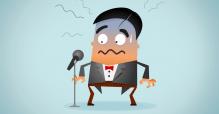 Hilfe eine Rede droht - Auftrittsangst und Lampenfieber