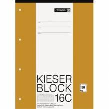 Block A4 Kieserblock rautiert 50Bl