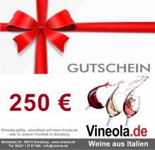 Geschenkgutschein über 250 €