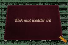 Dreckstückchen de luxe mit Aufdruck 'Kiek mol wedder in!'