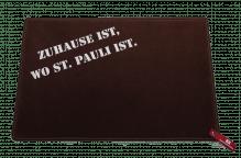 Dreckstückchen de luxe mit Aufdruck 'Zuhause ist, wo St. Pauli ist.'