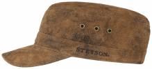 Stetson Raymore Army Cap Lederkappe braun 56-61 cm