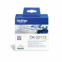 Brother Schriftbandkassette DK22113 62mmx15,24m schwarz auf weiß
