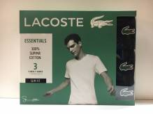 Lacoste Crew Neck T-Shirt 3er Pack black