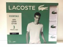 Lacoste Crew Neck T-Shirt 3er Pack white