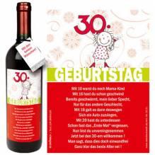 Rotwein '30. Geburtstag'