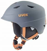 Uvex Kinder-Skihelm Airwing 2 Farbe: titanium-orange mat.