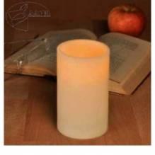 55044HI LED Flammenlose Kerze Weiß Echtwachs Wachskerzen mit An- und Aus Flackerlicht Pustfunktion
