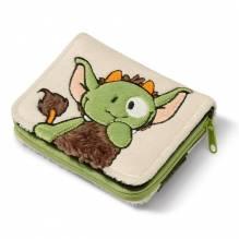 Nici Geldbeutel 'Monster Jipii' grün/braun Plüsch, 12x9,5cm