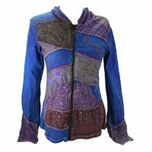 Fair Trade Patchwork Jacke Avatar Baumwolle Größe L 4047L