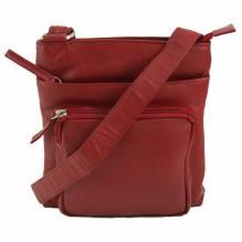 Fair Trade Tasche Elba rot  Nappaleder FEL-602