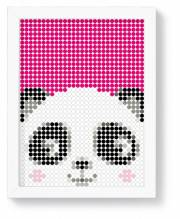 Panda - dot on art kid diy poster