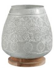 Orientalischer Weißmetallfotophor auf Holzsockel