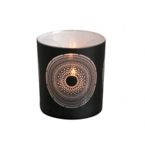 Orientalisches Glas schwarz-weiß Photophor 8 cm
