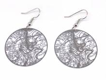 Luxembourg Urban Gridded Earrings - silver